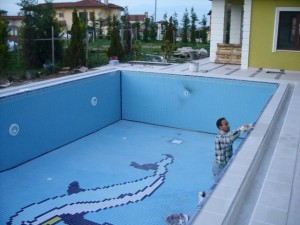 Havuz inşaat son aşama